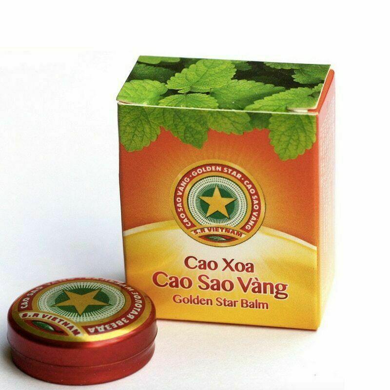10pcs Golden Star Tiger Balm Headache Menthol Relief Balm Vietnam Headache