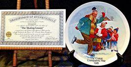"1981 ""The Skating Lesson"" by Joseph Csatari with Box ( Knowles ) AA20-CP2170 Vin image 4"