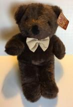 "Fiesta Bowtie Bear Plush America Wego Brown Stuffed Animal 12"" Lovey #1607A - $14.36"