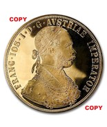 a 1915 Austrian 4 Ducat Gold Heavy Plate 40mm Copy  Not Marked COPY - $2.82 CAD
