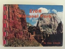 Vtg Zion National Park Utah Mini Souvenir Book in Full Color Photographs... - $12.99