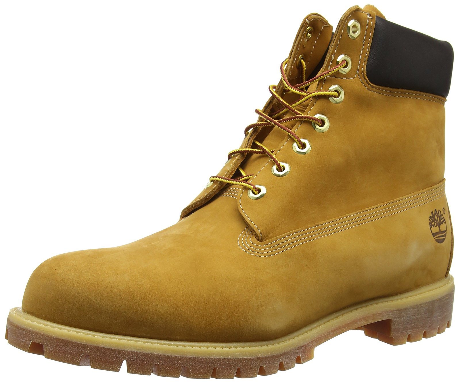 Timberland Men's 6 inch Premium Waterproof Boot,Wheat Nubuck,8 M US