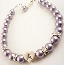 Rhinestone Initial Bracelet for Girl, Bridesmai... - $22.00