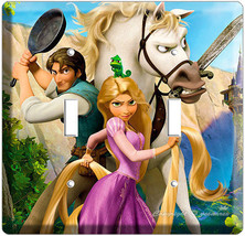Rapunzel Flynn Tangled Movie Double Light Switch Cover Girls Play Room Art Decor - $9.71