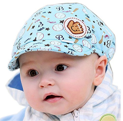 Baby Sun Protection Hat Infant Floppy Cap BLUE Base Ball