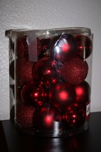 Large Lot of Red Christmas Ornaments - $9.89