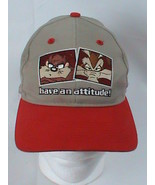 Vintage Looney Tunes Taz and Wile E Coyote Snap Back Hat 1997 - $14.84