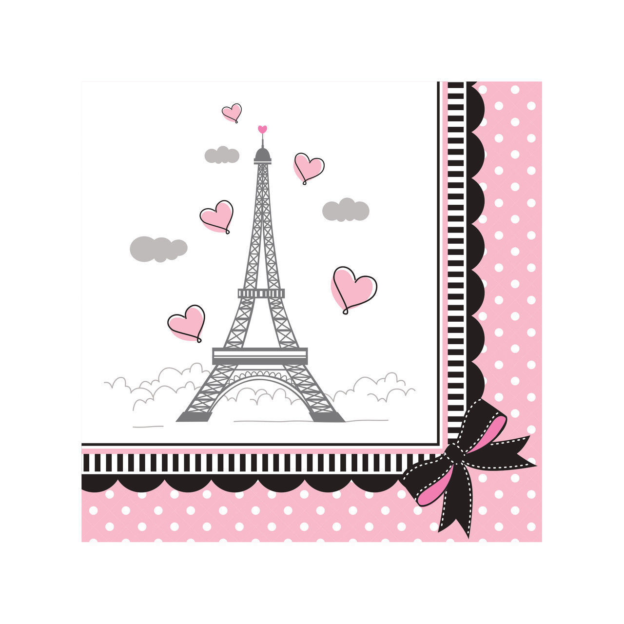 Party in Paris Birthday 18 Beverage Napkins Eiffel Tower