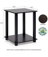 End Table Furniture Two 2 Tier Living Room Bed Nightstand Espresso Blac... - $63.58