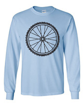 442 Bicycle Wheel Long Sleeve shirt biker biking cyclist wheelie novelty vintage - $18.00+