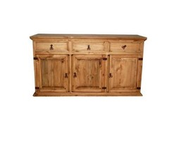 Rustic Medium China Cabinet Buffet Base Only We... - $643.49