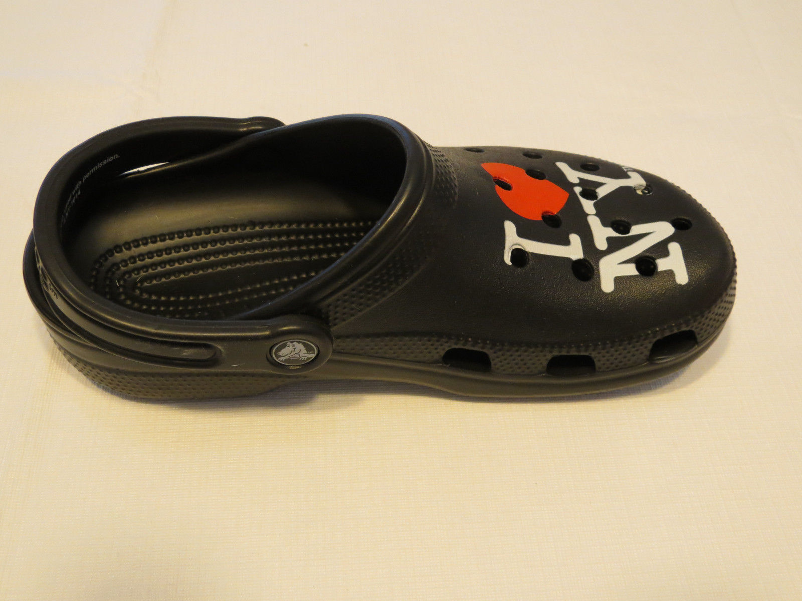 d87d9bc2c Amputee right shoe only Crocs I love New York roomy fit clog shoe M 4 W
