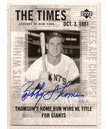 Bobby Thomson signed autographed Baseball card - $14.00