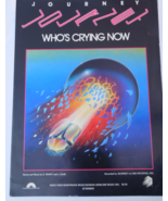 "Vintage Sheet Music 1981 ""Who's Crying Now"" Recorded by Journey #7631 - $6.99"