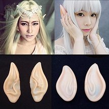 Fairy Pixie Elf Ears Halloween Latex - One Pair w/Random Design and Color image 2