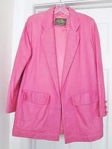 Avanti Women's Vtg Soft Leather Jacket Coat Blazer Swing Style Pink No S... - $69.94
