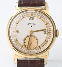 Vintage Mens ☆ Lord Elgin 14k Yellow Gold Fille... - $292.04
