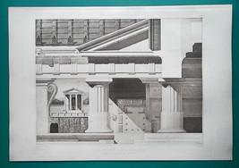 CORI Italy Doric Temple of Hercules - 1905 Espouy Heliogravure Print - $25.40
