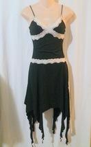 Charlotte Russe Lace Trimmed Black Knit Dress Size Xs - $8.00