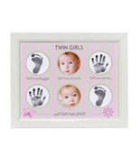 Twin Girls Handprint Footprint Frame - $40.00