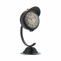 Accent Plus Decorative Desk Clock, Vintage Black Standing Table Small Round Rust - $371.49