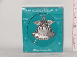 Collectible Gloria Duchin Pewter Angel Love Christmas Ornament USA made  - $13.03