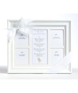 Twin Milestones Framed Keepsake 8x10 - $25.00