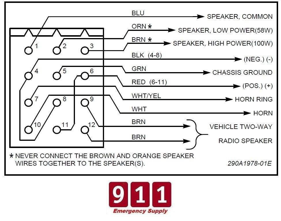 Federal Pa300 Siren Wiring Diagram - Wiring Diagrams Schematics