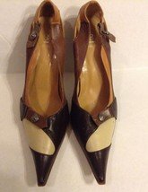 Bakers Brown Black and Beige Leather Pumps Shoe... - $44.50