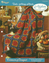 Needlecraft Shop Crochet Pattern 962290 Crimson Bouquet Afghan Collector... - $4.99