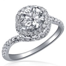 100% Natural 0.96 Carat (0.46) E/VS1 Round Cut Diamond Engagement Ring 1... - £1,811.56 GBP