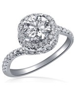 100% Natural 0.96 Carat (0.46) E/VS1 Round Cut Diamond Engagement Ring 1... - $51.120,80 MXN