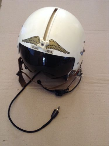 Gentex Vintage US Navy Fighter Jet Pilot Flight Helmet w/ Visor DSA-1-8845 1965