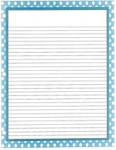 Blue Polka Dot 3 Hole Loose Leaf Paper 50 Sheets - $16.82