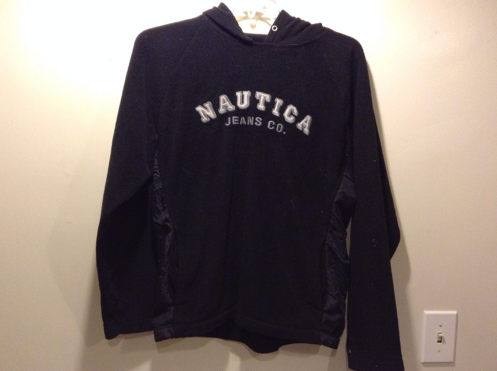 Women's Used Condition Nautica Jeans Co Black Hoodie No String Size Medium