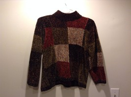 Women's Used Condition Dress Barn Turtleneck Red Brown Sweater Size 2XL