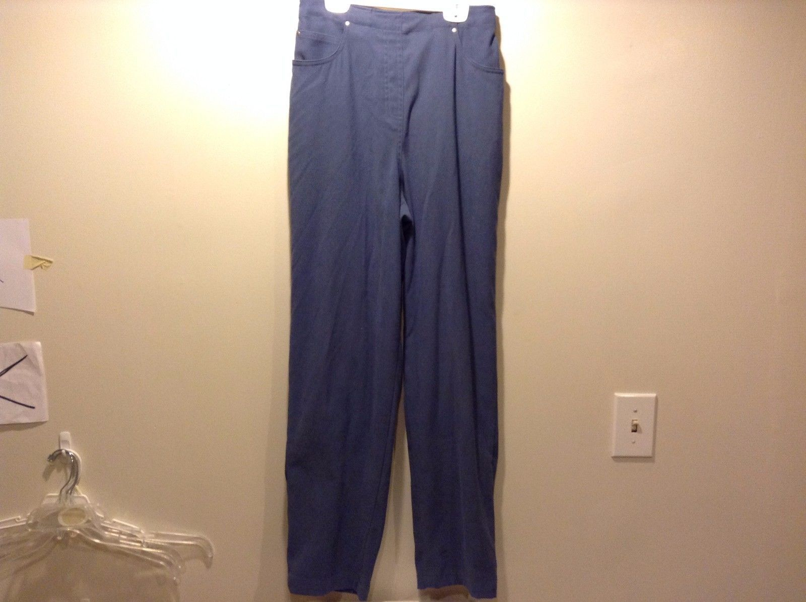 Women's Used Great Condition Denim and Company Dark Blue Slacks Size Medium