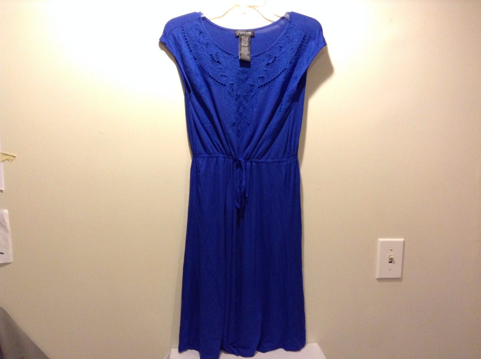 Women's Used Great Condition Royal Blue Flower Embroidery Spense Small Dress