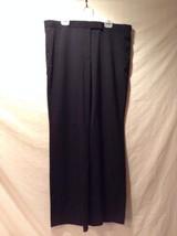 Women's Black Larry Levine Poly Blend Slacks Size 12 Great Used Condition