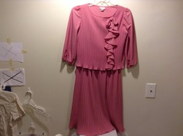 Women's Used Great Condition Ms. Classic Pink 80's Style Dress Size 10