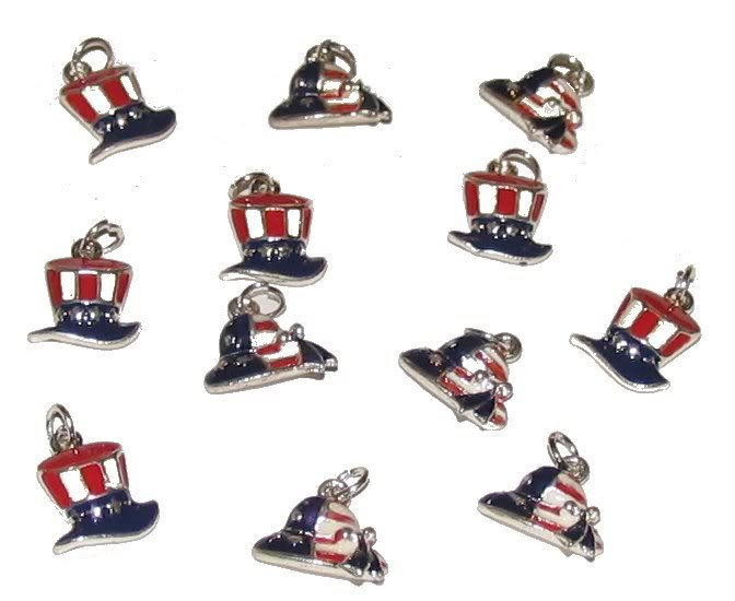 12 uncle sam hats charms findings crafts jewelry diy projects charms