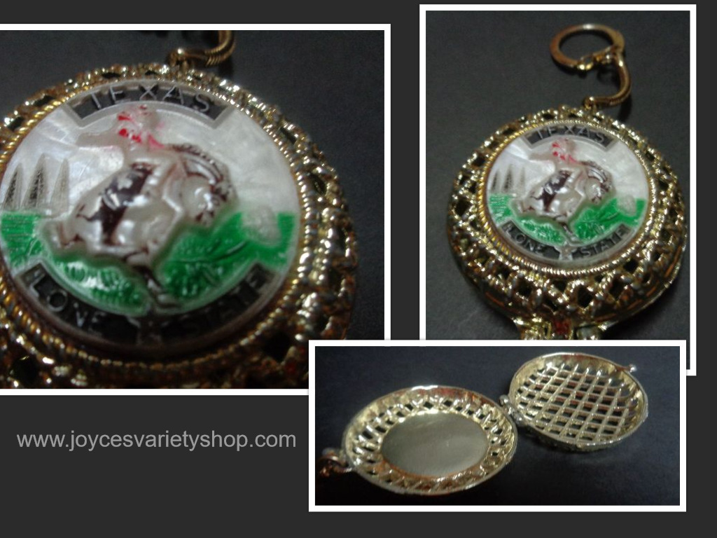 Texas locket key chain collage