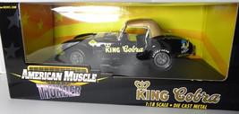 Ertl King Cobra 1:18 NIB Black Diecast Model Car American Muscle Thunder - $67.98