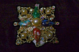 "Vintage Beautiful Sarah Coventry Galaxy Brooch "" C-1969 "" - $14.84"