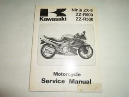 1990 1993 Kawasaki Ninja ZX-6 ZZ-R600 ZZ-R500 Motorcycle Service Manual STAINED - $39.55