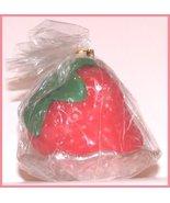 Strawberry shaped Fruit Candle Decor with Burni... - $6.99