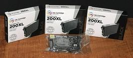 3 LD Reman. Black Ink Cartridges 200 XL and 1 Epson Dura Brite 200 - $17.33