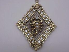 Estate Vintage 10k YG  Scorpion 10.00ct Cubic Zirconia Filigree Ornate P... - $1,519.75
