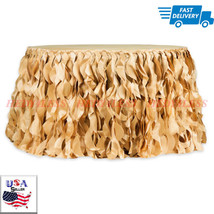 Gold (new tone) Curly Willow 14ft Table Skirt - Gold new tone 1 PK FAST ... - £51.99 GBP