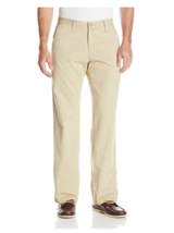 Lee Men's Weekend Chino Straight Fit Flat Front Pant 36 x 30 true khaki - $21.84